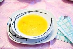 Fresh hot soup Stock Photo