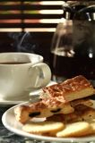Fresh hot tea with biscuits 02 Royalty Free Stock Image
