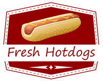 A fresh hotdog label Stock Photo