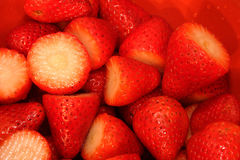 Fresh Hulled Strawberries Royalty Free Stock Photo
