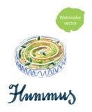 Fresh hummus dip Stock Photo
