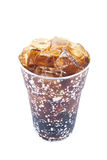 Fresh, ice cold water in Plastic cup Royalty Free Stock Photography