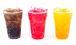 Fresh, ice cold water in Plastic cup Royalty Free Stock Photo