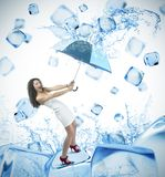 Fresh ice cube fashion Royalty Free Stock Photo