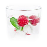 Fresh ice drink with raspberry and mint Stock Photography