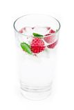 Fresh ice drink with raspberry and mint Royalty Free Stock Photography