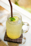 Fresh Ice Honey Lemon Drink. Healthy Drink including mint, lemona and honey, Thailand Stock Images