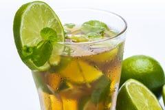 Fresh ice tea with lime Stock Photos