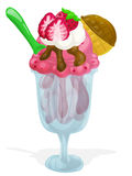 Fresh icecream Stock Images