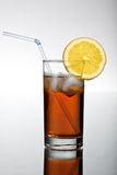 Fresh icetea drink. With lemon. HQ studio shot. Camera: Canon EOS 5D Mark II Stock Images