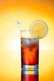 Fresh icetea drink. With lemon. HQ studio shot. Camera: Canon EOS 5D Mark II Royalty Free Stock Image