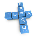 Fresh idea 3D crossword on white background Royalty Free Stock Photos