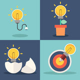 Fresh idea and creative light bulb concept Royalty Free Stock Photo