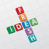 Fresh idea crossword, flat design Royalty Free Stock Images