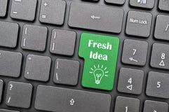 Fresh idea on keyboard Royalty Free Stock Photography