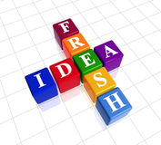 Fresh idea like crossword Royalty Free Stock Photography