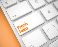 Fresh Idea - Message on the White Keyboard Key. 3D. Stock Photos