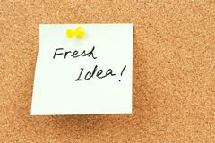 Fresh idea words Royalty Free Stock Photo