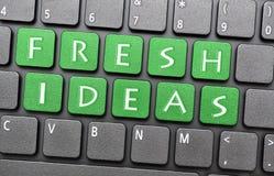 Fresh ideas. Green Fresh ideas key on laptop Stock Photo
