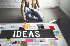Fresh Ideas Action Thoughts Vision Proposal Concept Stock Photos