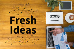 Fresh Ideas. Concept businessman working Royalty Free Stock Photos