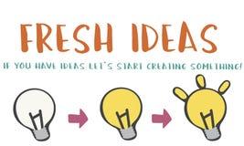 Fresh Ideas Design Inspiration Invention Concept. Fresh Ideas Design Inspiration Invention Stock Photo