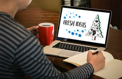 FRESH IDEAS Ideas Design Innovation think Objective Strategy , N Stock Images
