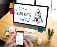 FRESH IDEAS Ideas Design Innovation think Objective Strategy , N Stock Photos