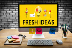 FRESH IDEAS   Ideas Design Innovation think Objective Strategy , Stock Images