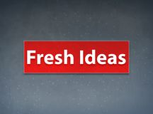 Fresh Ideas Red Banner Abstract Background. Fresh Ideas Isolated on Red Banner Abstract Background illustration Design stock illustration