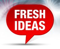 Fresh Ideas Red Bubble Background royalty free stock photography