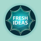 Fresh Ideas magical glassy sunburst blue button sky blue background. Fresh Ideas Isolated on magical glassy sunburst blue button sky blue background royalty free illustration