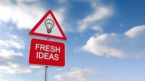 Fresh ideas sign against blue sky stock video