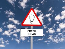 Fresh ideas sign Royalty Free Stock Photography