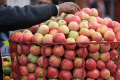 Fresh indian apple selling at street shop Stock Photography
