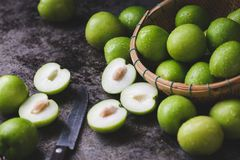 Free Fresh Indian Jujube Fruits On The Dark Background Stock Photography - 165788422