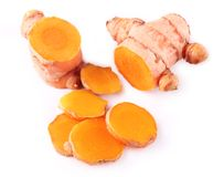 Fresh indian medicinal spice turmeric or longa Stock Photography
