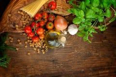 Fresh ingredients Royalty Free Stock Images