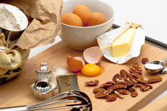Fresh Ingredients for Baking Royalty Free Stock Photography