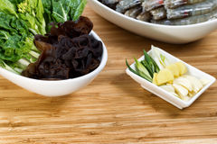 Fresh ingredients for cooking Asian Meal Stock Photo