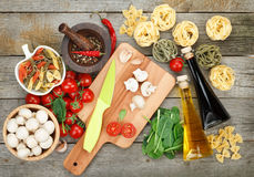 Fresh ingredients for cooking Royalty Free Stock Photos