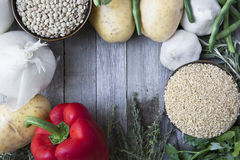 Fresh Ingredients with Copy Space Stock Images