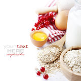Fresh Ingredients For Oatmeal Cookies Royalty Free Stock Image