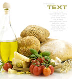 Fresh ingredients for an Italian dinner stock photography