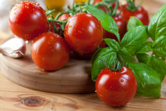 Fresh ingredients for italian pasta Stock Image