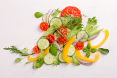 Fresh ingredients for salad Royalty Free Stock Images