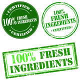 100% Fresh Ingredients Royalty Free Stock Images