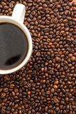 Fresh,invigorating coffee with chocolate. In the early morning Royalty Free Stock Photo