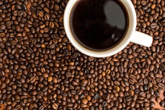 Fresh,invigorating coffee with chocolate. In the early morning Stock Images