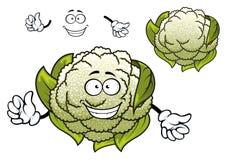 Fresh isolated cartoon cauliflower vegetable Royalty Free Stock Photography